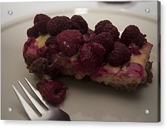 Acrylic Print featuring the photograph Homemade Cheesecake by Miguel Winterpacht