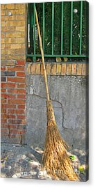 Homemade Straw Broom Acrylic Print by John Malone