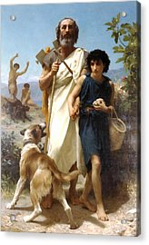 Homer And His Guide Acrylic Print by William Bouguereau