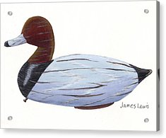 Homerfulcher Red Head Decoy Acrylic Print by James Lewis