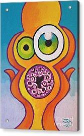Homer's Scream Acrylic Print by Jedidiah Morley