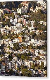 Homes Of San Francisco Acrylic Print by B Christopher