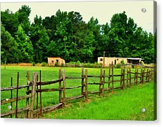 Homestead Acrylic Print by Paulette B Wright