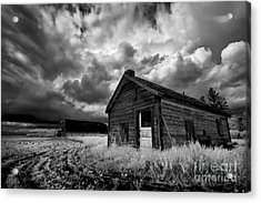 Homestead Under Stormy Sky Acrylic Print