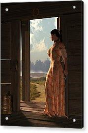 Homestead Woman Acrylic Print by Daniel Eskridge