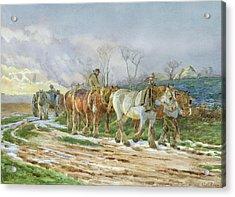 Homeward Bound Acrylic Print by Charles James Adams
