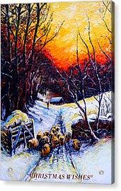Homeward Bound Christmas Card Acrylic Print by Andrew Read
