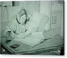 Homework Acrylic Print