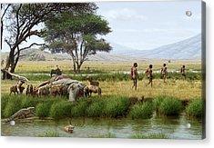 Homo Ergaster Hunters Acrylic Print
