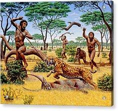 Homo Ergaster Hunting Group Acrylic Print