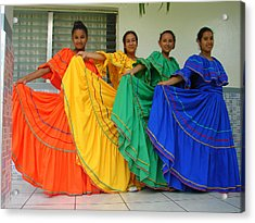 Honduran Dancers Acrylic Print