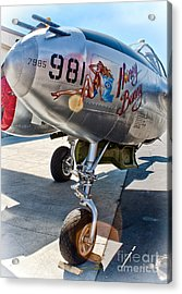 Honey Bunny - P-38 Airplane Acrylic Print by Gregory Dyer