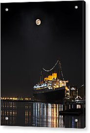 Honey Moon Reflects With The Queen By Denise Dube Acrylic Print