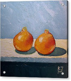 Acrylic Print featuring the painting Honeybells - The Perfect Couple by Katherine Miller