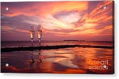 Honeymoon - A Heart In The Sky Acrylic Print by Hannes Cmarits