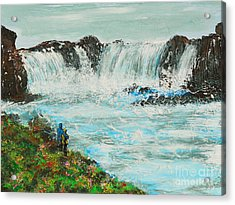 Honeymoon At Godafoss Acrylic Print