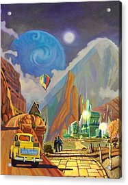 Acrylic Print featuring the painting Honeymoon In Oz by Art West