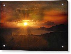 Honeymoon Sunset Acrylic Print