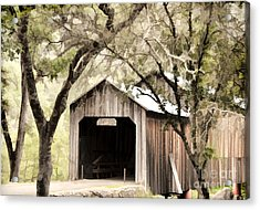 Honeyrun Covered Bridge Acrylic Print