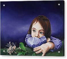 Honeysuckle Acrylic Print by Richard Mountford