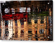 Honfleur Abstract Acrylic Print by Jacqueline M Lewis