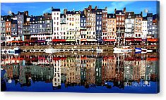 Acrylic Print featuring the photograph Long Horizontal Abstract - Honfleur Artists Village  by Jacqueline M Lewis