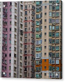 Hong Kong Buildings  Acrylic Print by Sarah Mullin