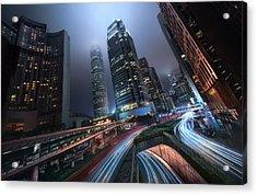 Hong Kong City Lights Acrylic Print