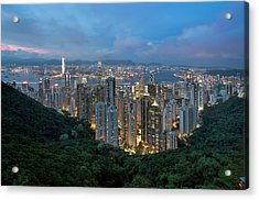 Hong Kong From Sky Terrace 428 At Victoria Peak Acrylic Print