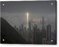Hong Kong From Victoria Peak Acrylic Print by Pavel Kiselev