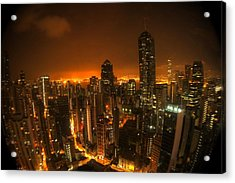 Acrylic Print featuring the photograph Hong Kong Gotham by Peter Thoeny