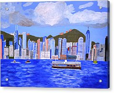 Acrylic Print featuring the painting Hong Kong by Magdalena Frohnsdorff