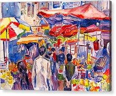 Hong Kong Market Acrylic Print by Joyce Kanyuk