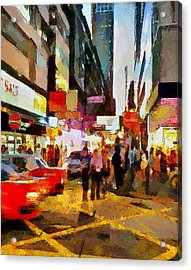 Hong Kong Night Lights 2 Acrylic Print by Yury Malkov