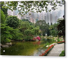 Acrylic Print featuring the photograph Hong Kong Park by Art Photography