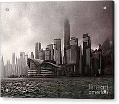Hong Kong Rain 5 Acrylic Print