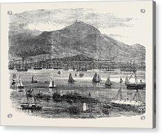 Hong Kong Regatta The Start For The Scratch Match 1869 Acrylic Print by English School
