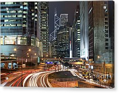 Hong Kong Rush Hour Acrylic Print by Lars Ruecker