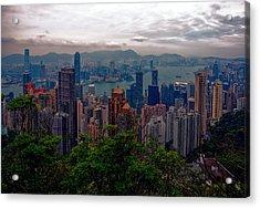 Hong Kong Skyline Acrylic Print by Robert Knight
