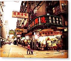Hong Kong Street Acrylic Print by Ernst Cerjak