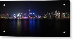 Hong Kong Waterfront Acrylic Print by Mike Lee