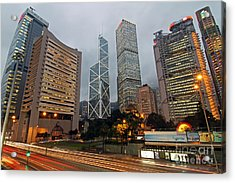 Hong Kong's Financial Center Acrylic Print by Lars Ruecker