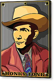 Honky Tonk Hank Williams Acrylic Print by Larry Butterworth