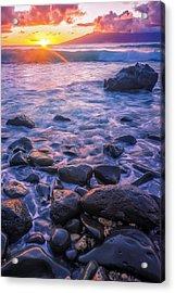 Honolua Sunset Acrylic Print by Hawaii  Fine Art Photography