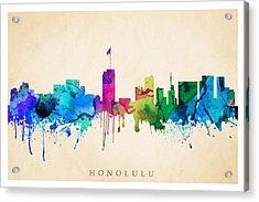 Honolulu Cityscape Acrylic Print