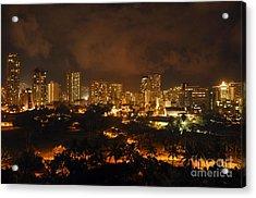 Acrylic Print featuring the photograph Honolulu Glow by Gina Savage