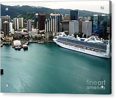 Acrylic Print featuring the photograph Honolulu Port by Brigitte Emme