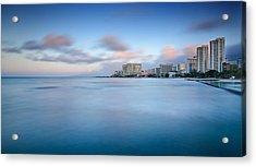 Honolulu Waikiki Early Morning Acrylic Print by Tin Lung Chao