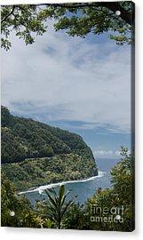 Honomanu - Highway To Heaven - Road To Hana Maui Hawaii Acrylic Print by Sharon Mau