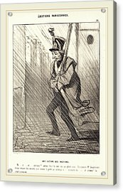 Honoré Daumier French, 1808-1879, Emotions Parisiennes Une Acrylic Print by Litz Collection